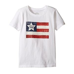 *3 FOR 15* Life is Good Toddler American Flag Tee